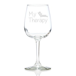 My Therapy Wine Glass