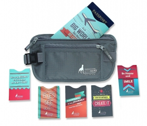 RFID Blocking sleeves set and money belt