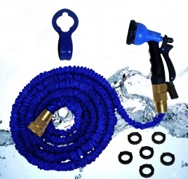 Garden Hose Nozzle and Expandable Garden Water Hose